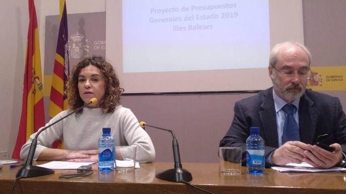 La delegada del Gobierno niega el 'agravio' y dice que los PGE 'son buenos para Baleares'