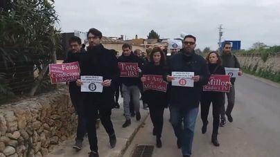Los huelguistas han ido a manifestarse a Algaida