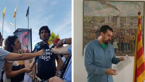 Detenidos dos alcaldes de la CUP en Girona por desórdenes públicos