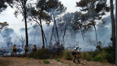 Baleares luchó contra el fuego con 150 hectáreas de fajas anti-incendios