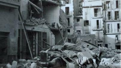 Palma tras un bombardeo republicano