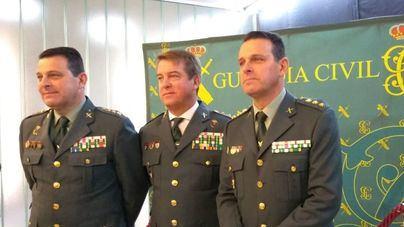 El nuevo jefe de la Guardia Civil en Baleares, en el centro