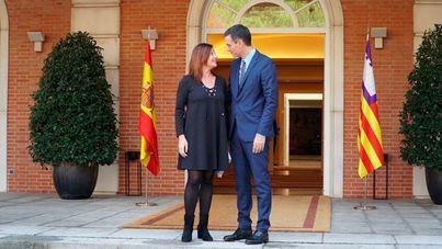 """Armengol """"se quejará"""" a Sánchez, que """"hará lo que pueda"""" para mejorar la financiación"""
