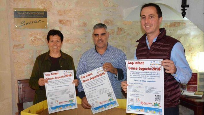 Santanyí y Cáritas comienzan una recogida solidaria de juguetes