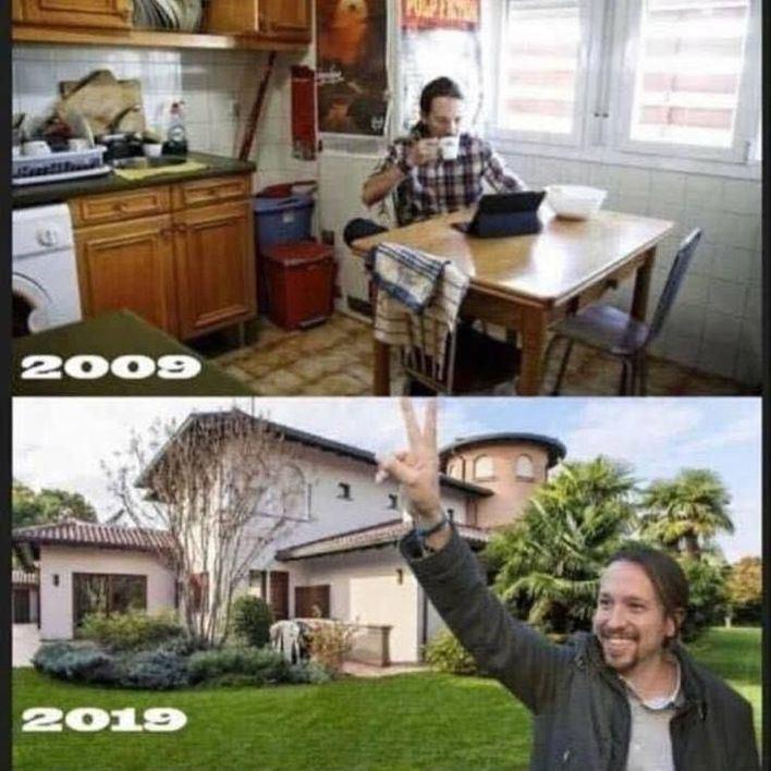 """El espectacular """"10 Years Challenge"""" de Pablo Iglesias, así ha cambiado en una década"""