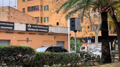 Mobilitat instala tres puntos fijos de control de velocidad por radar en el centro de Palma
