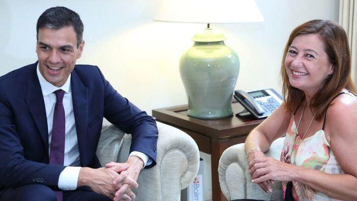 Armengol lamenta que la inversión de los Presupuestos en Baleares