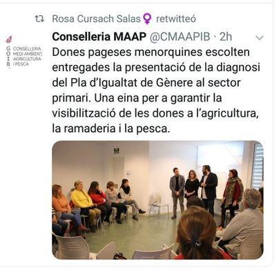 """Lío por un tuit machista: el conseller Vidal habla ante mujeres payesas que le """"escuchan entregadas"""""""