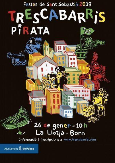 La yincana 'Trescabarris' de temática pirata recorre este sábado los barrios de la Llotja y el Borne