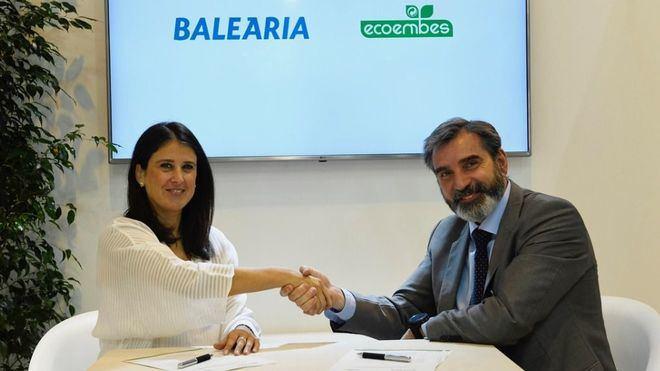 Baleària se une a Ecoembes para reciclar el 100 por cien de los envases de plástico, latas y bricks