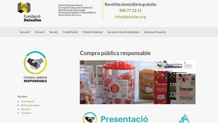 Fundació Deixalles lanza una web de compra pública responsable
