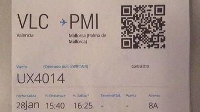 Imagen del billete de avión