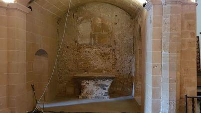 Prosiguen las obras de restauración de la capilla del castillo de Capdepera