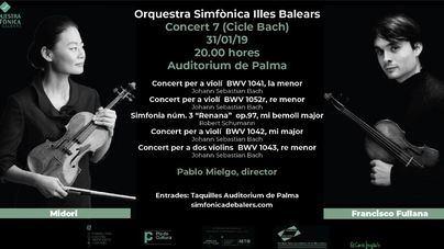 El Auditorium acoge el concierto de los violinistas Francisco Fullana y Midori de la Simfònica