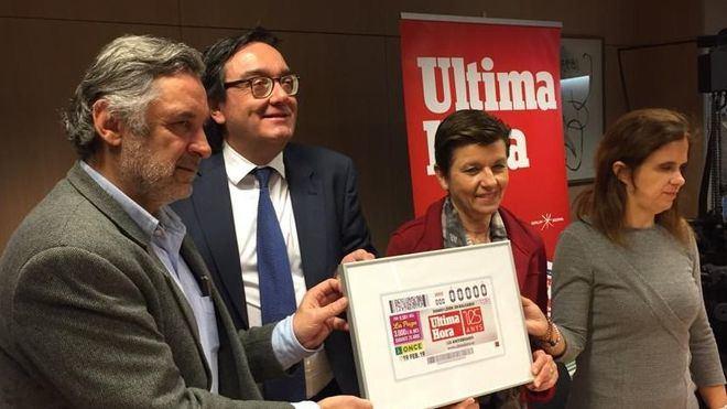 La ONCE dedica el cupón de su sorteo del día 19 al diario Ultima Hora