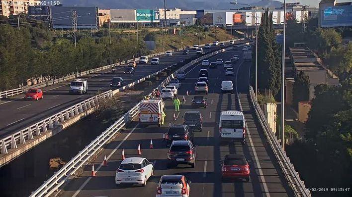 Retenciones por accidentes en Via de Cintura en hora punta