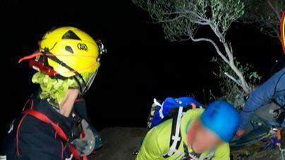 Largo y laborioso rescate de un grupo de escaladores en Sa Gúbia, Bunyola