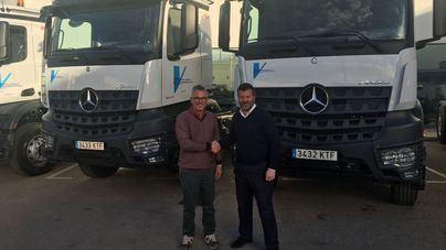 La flota de camiones de Vitrac Obra Pública se amplía con 4 nuevos Mercedes Benz de Autovidal