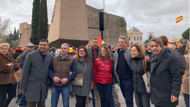 Una representación de Cs Baleares acude a la manifestación de este domingo en Madrid