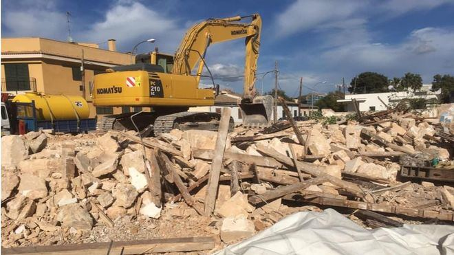 Reciente demolición de una casa histórica del barrio del Coliseo de Palma