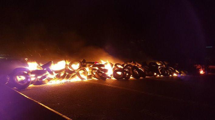 Los CDR cortan carreteras en protesta por el juicio a los Independentistas