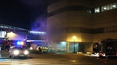 El incendio de unas baterías provoca un susto en Son Sant Joan