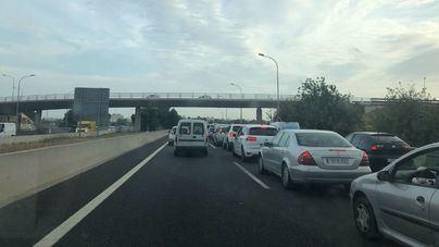 Colas kilométricas para entrar en Palma por la autopista de Inca