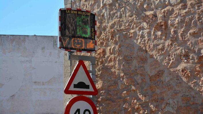 Santanyí instala radares pedagógicos para mejorar la seguridad vial