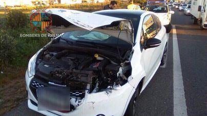 Enésimo atasco en los accesos a Palma en hora punta por un accidente