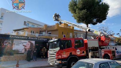 Incendio en el restaurante Rincón Gallego en la zona de la Porcíncula