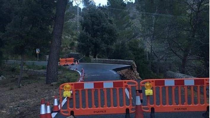 Modificaciones en la carretera de Caimari-Lluc por seguridad