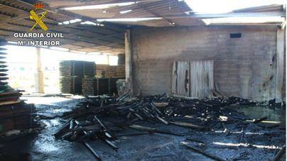 Detenidos dos jóvenes por robos y el incendio de una carpintería en Montuiri