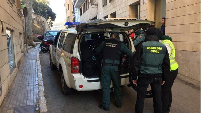 Golpe de la Guardia Civil contra el tráfico de drogas en Palma, Sa Pobla e Inca