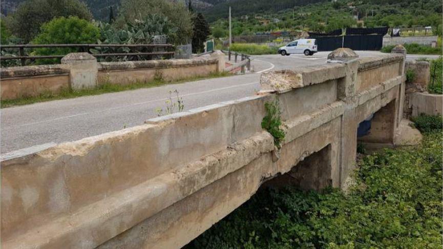 Arrancan las obras de rehabilitación del 'Pont des dos ulls' de Andratx