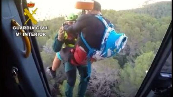 Rescatado un ciclista en el Puig de Galatzó tras clavarse el manillar y perder gran cantidad de sangre
