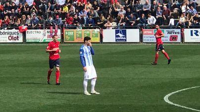 El Atlético Baleares sufre para lograr el empate frente al Olot
