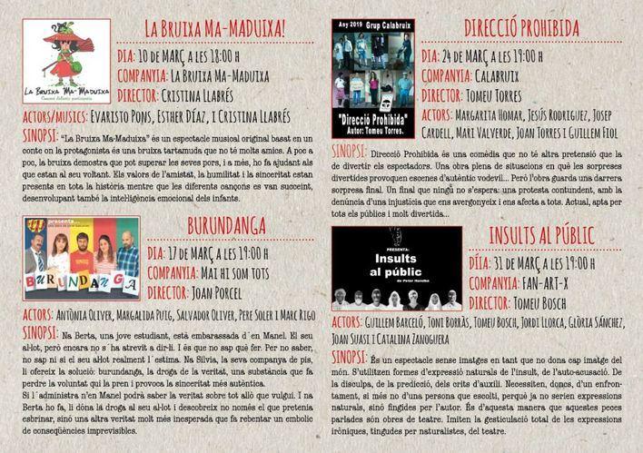 El domingo arranca la XXVIII Mostra de Teatre de Andratx