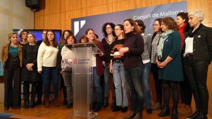 Podem, Més y PSIB instan a las mujeres de Mallorca a secundar la huelga y