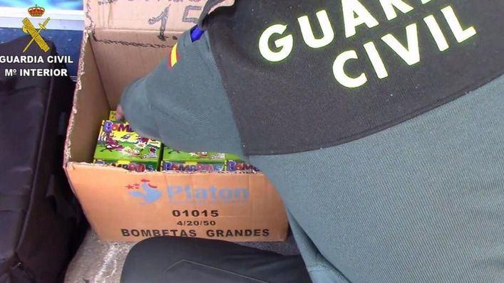 Ofensiva policial contra falsificaciones y pirotecnia en locales chinos de Mallorca