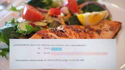Los lectores consideran que los menús escolares no son saludables