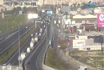 Un accidente complica los accesos a Palma en hora punta