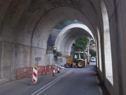 Cierran de jueves a sábado el falso túnel de Estellencs