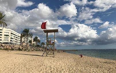 Las playas de Can Pere Antoni y Ciudad Jardín continúan cerradas al baño