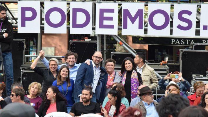 Representantes de Podemos Baleares asisten en Madrid a un acto del partido de cara a las generales