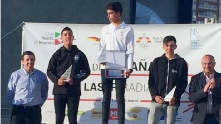 Javier Vilariño, del Club Nàutic S'Arenal, tercero en la Copa de España de Laser Radial