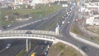 Varios accidentes complican los accesos a Palma