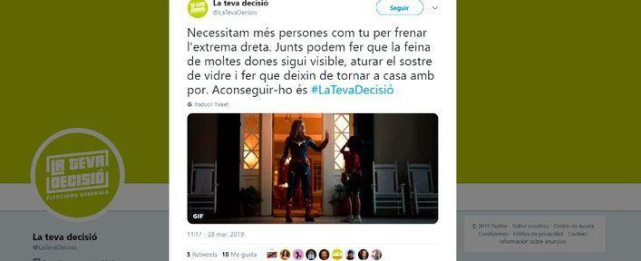 Més estrena campaña en twitter con una historia sobre feminismo