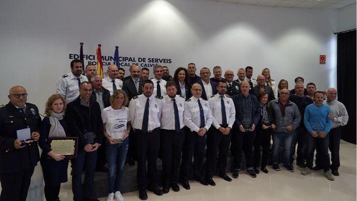 Calvià reconoce la labor de Protección Civil y los Servicios de Emergencias