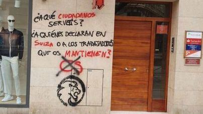 Cs denuncia pintadas ofensivas en su sede de Palma