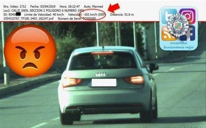 Nuevo conductor pillado en Ibiza a 102 Kilómetros hora en un tramo limitado a 40